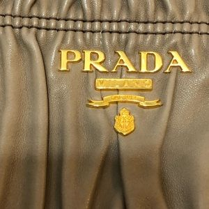 Leather PRADA Gaufre Nappa Clutch Like BUTTER!